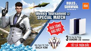 Nhận pin sạc dự phòng Xiaomi 2S tại ROS Mobile Weekly Tournament 19h tối nay