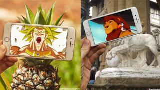 """""""Cười rớt hàm"""" với sự kết hợp giữa iphone, phim hoạt hình và đời thực"""