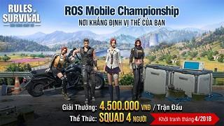Cáo Cyber, ABCT36 Gaming tổ chức ROS Mobile Championship khởi tranh tháng 4 này