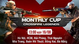 Crossfire Legends – Cuối tuần sôi động với Monthly Cup tháng 8 tại 8 tỉnh thành