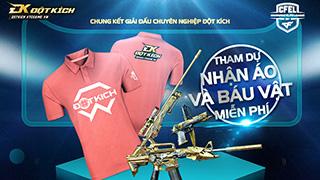 """VTC Game """"bạo tay"""" chi đậm quà cho game thủ tới xem Chung kết Đột Kích CFEL 2017"""