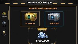 6.000.000 Kim Cương cho sự kiện dự đoán nhà vô địch CKQG CF2L