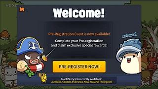 MapleStory M đã cho game thủ Việt Nam đăng ký trước