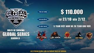 Cuối tuần này xem gì? Giải đấu quốc tế ROS Mobile Global Series chính thức khởi tranh vào 17h ngày 27/10