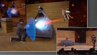 Phê với màn trình diễn kính Hololens của Microsoft