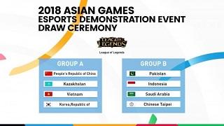 [Asian Games 2018] – Tuyển Liên Minh Huyền Thoại Việt Nam rơi vào bảng tử thần