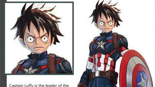 Sẽ ra sao nếu các nhân vật One Piece hóa thân thành Avengers?