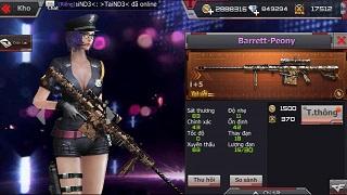 CFL – Uy lực của set vũ khí Peony Barrett – D.E – Kukri