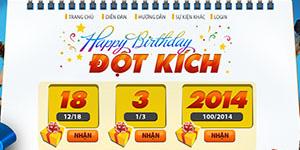 Tặng 400 gift code sinh nhật Đột Kích