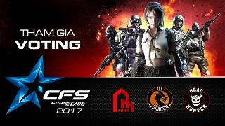 CFL – Bình chọn đội hình siêu sao tham dự giải quốc tế CrossFire Star