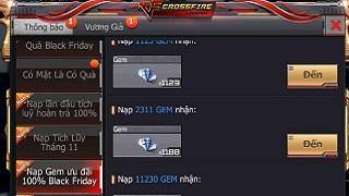 CFL: Sở hữu vô vàn GEM và các vũ khí VIP với giá cực ưu đãi chỉ duy nhất vào ngày Black Friday 23/11