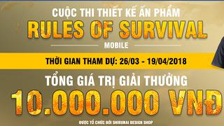 Tham gia thiết kế áo thun Rules of Survival để nhận thưởng 10 triệu đồng