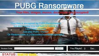 Xuất hiện ransomware yêu cầu người dùng phải chơi PUBG trong 1 tiếng
