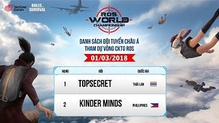Top 2 Châu Á TopSecret Thái khẳng định RoS mobile đáng để chơi