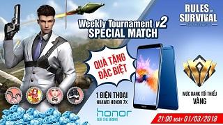 Nhận ngay Huawei Honor 7x khi tham gia ROS Mobile Weekly Tournament V2