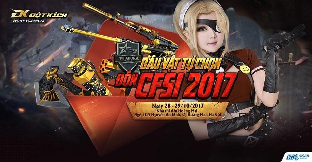 Vũ khí VIP, báu vật vĩnh viễn và hàng ngìn giftcode hấp dẫn đang chờ đón game thủ tại CFSI 2017