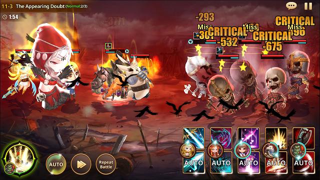 HeroCry Saga: tân binh RPG chiến thuật đồ hoạ chibi cực yêu vừa ra mắt