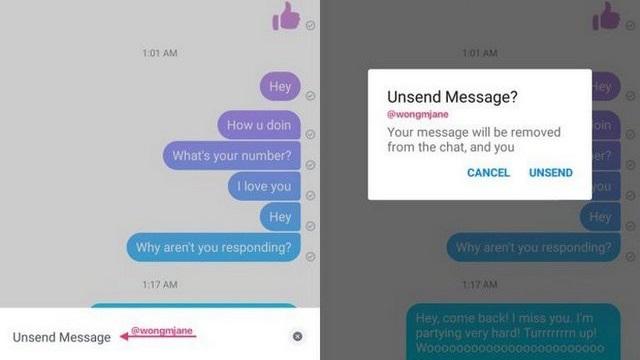 """Facebook Messenger bắt đầu thử nghiệm tính năng giúp bạn """"rút lại"""" tin nhắn nếu có lỡ gửi hoặc viết nhầm cho ai đó"""