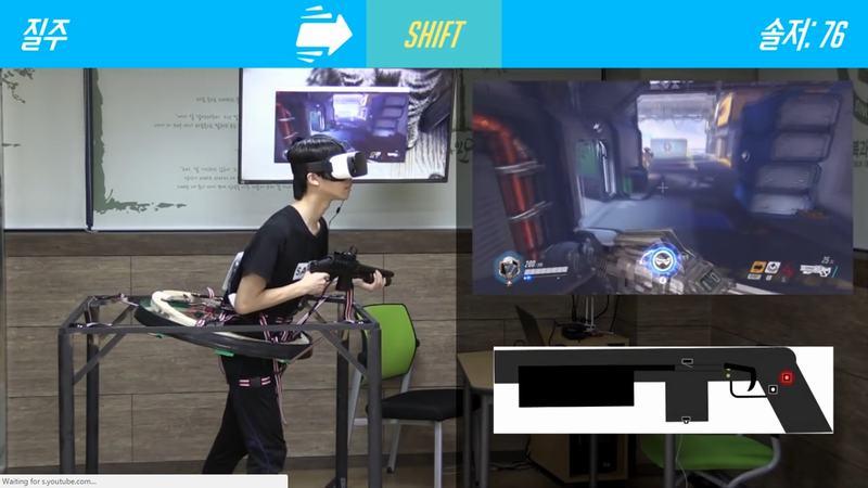 Ngưỡng mộ trước hệ thống VR chơi Overwatch của học sinh trung học