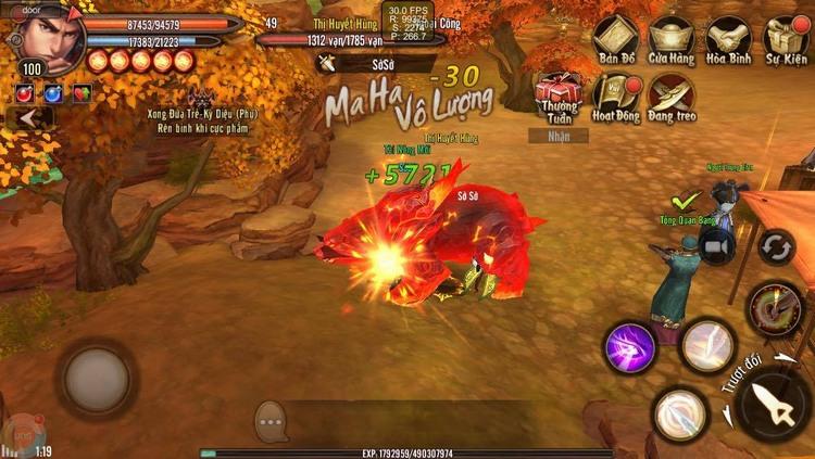 Điểm qua những skill nảy lửa của 4 phái trong Phong Vân 3D Mobile