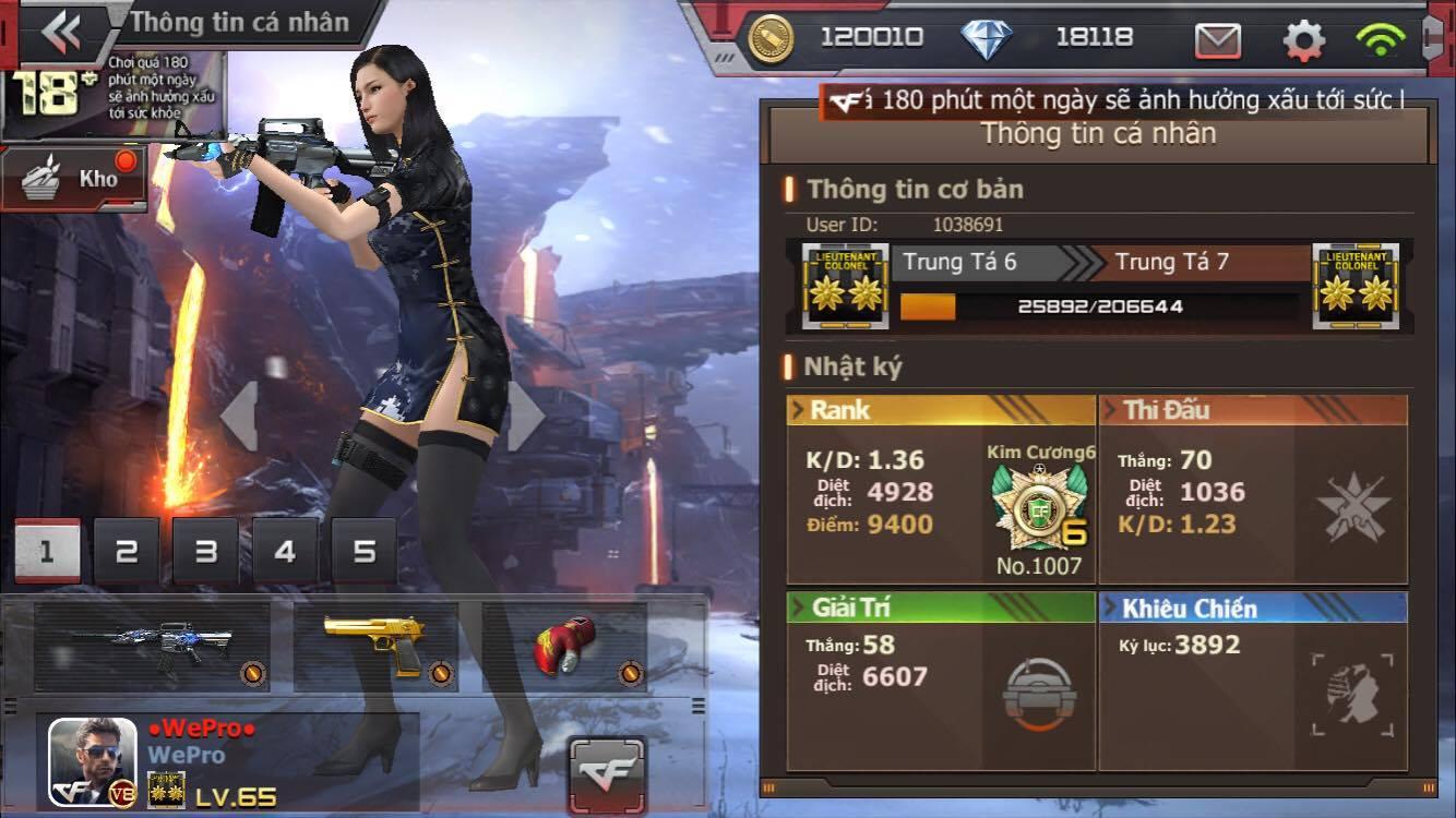 Game thủ có dàn vũ khí cực vip vẫn train với AK Gỗ để đánh giải CF2L SS1
