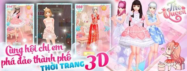 """The Queen: Game thời trang 3D """"thực tế ảo"""" đầu tiên sắp đổ bộ Việt Nam"""
