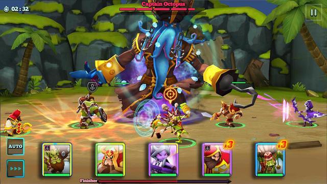 Giants War: tân binh chiến thuật thẻ bài hấp dẫn chính t