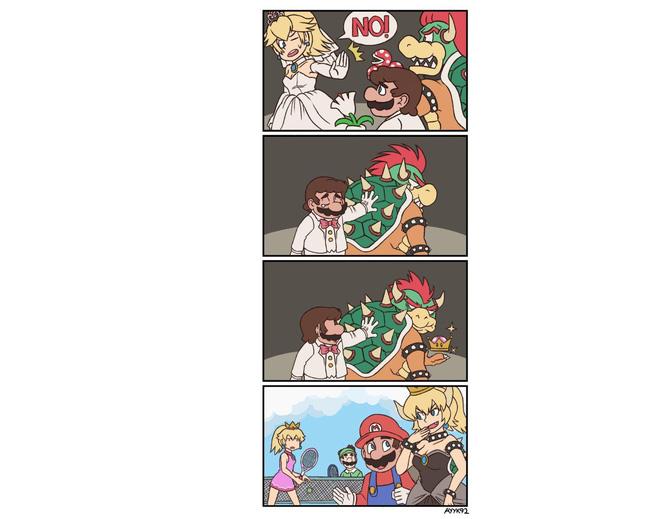 Làm quái vật mãi nên chán, trùm cuối Mario hóa thành Công chúa