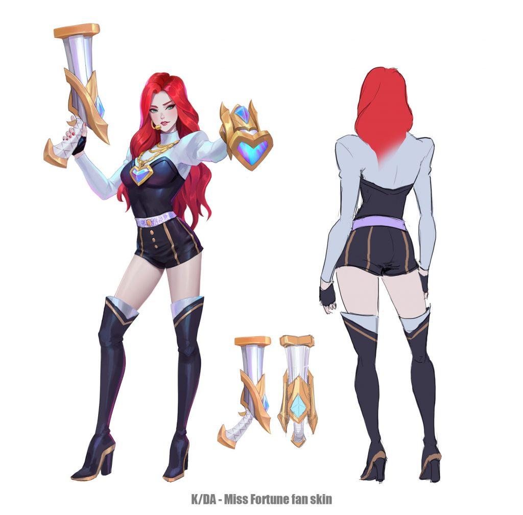 LMHT: Fan-art trang phục mới cực đẹp cho K/DA Syndra, Miss Fortune, Riven và Lux