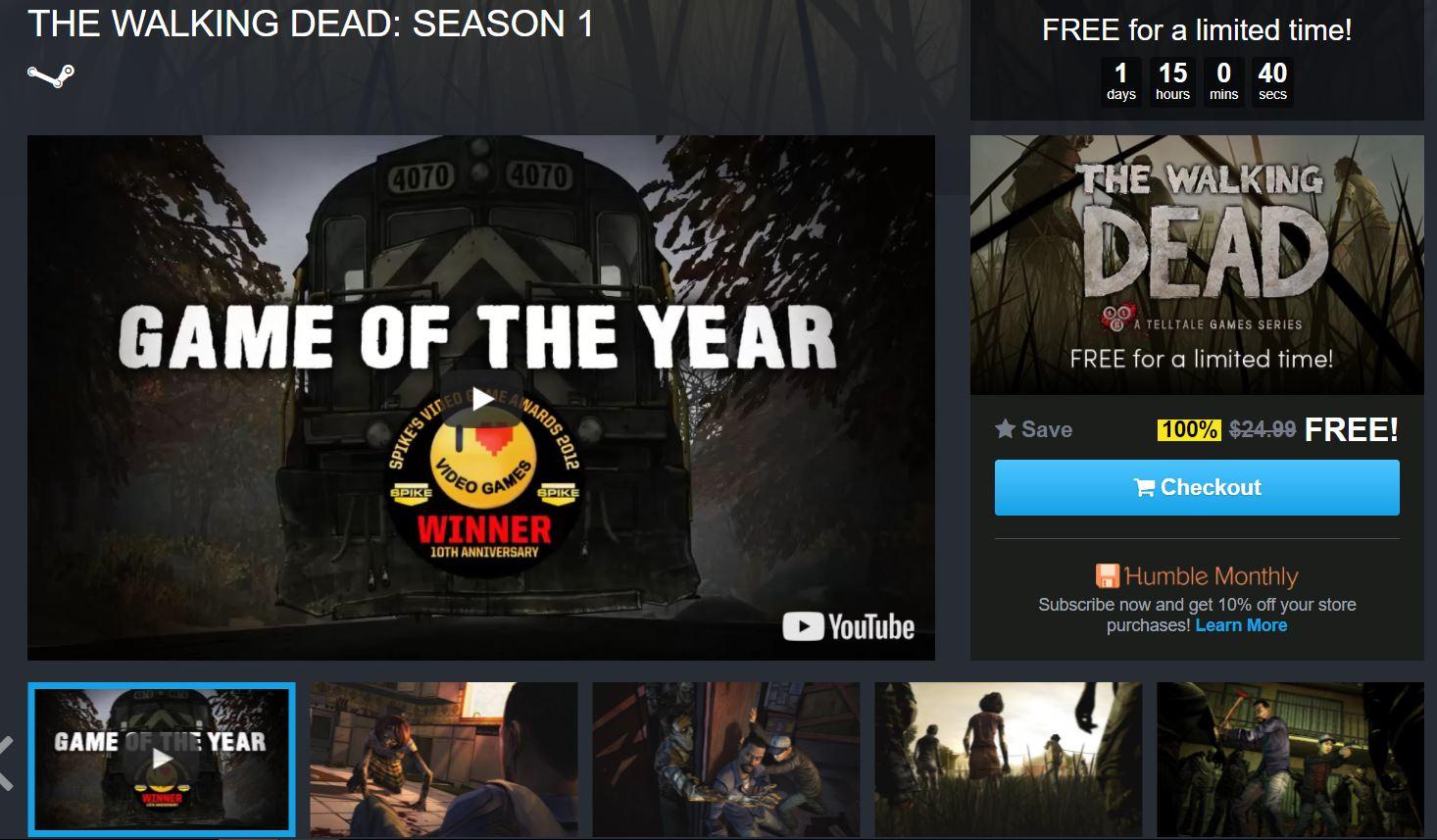 Sở hữu ngay series game đình đám The Walking Dead: Season 1 miễn phí