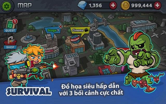 Zombie Survival: tựa game giải trí bắn zombie ngộ nghĩnh dễ gây nghiện