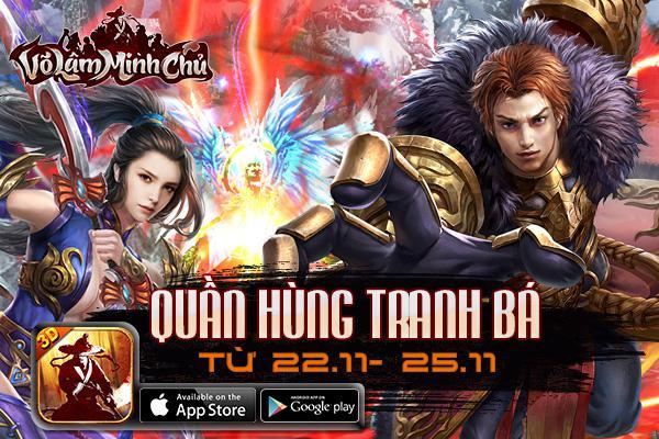 Playpark tặng 100 Giftcode game Võ Lâm Minh Chủ
