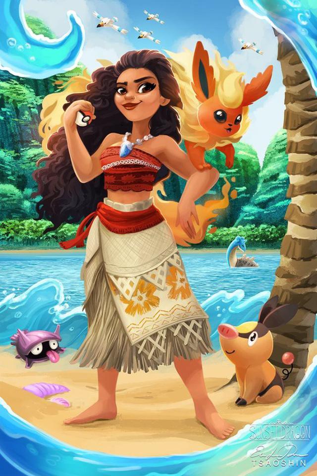 """Khi Pokémon trở thành """"pet cưng"""" của các công chúa Disney"""