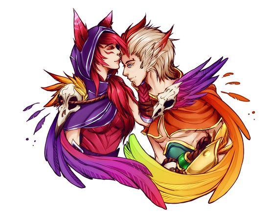 """Fanart """"siêu ngọt"""" của cặp đôi đang gây sốt Liên Minh Huyền Thoại: Xayah và Rakan"""